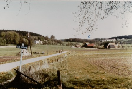 Hof Boberg X mark's where the farm is This was done by Axel Flake taken May 1982.