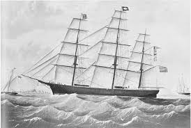 This was the typical ship at the time for travel to and from the New or Old Country.
