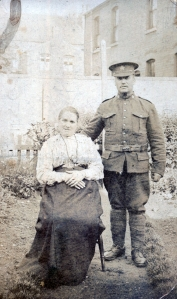 Sister Jane Newman and William (Newman) Smith about 1917 in Birmingham, England