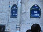 Corner signs of St Denis and St Sauveur Streets in the 2nd arrd of Paris.