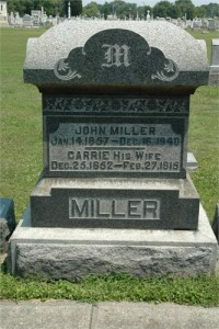 John and Carrie Miller St. Magdalene Cemetery with St. Patrick Cemetery, North Madison, Jefferson Co., Indiana