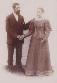 Eva Miller McNew marries Michael Kieffer 14 Sep 1895 St. Magdalene Catholic Church, Shelby Township, Ripley, Indiana