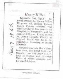 Henry's Obit November 7, 1956
