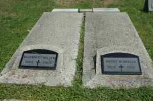 Henry and Elizabeth Miller St Magdalene Cemetery, North Madison, Jefferson, Indiana Lot 18, Row 1 grave 5+6
